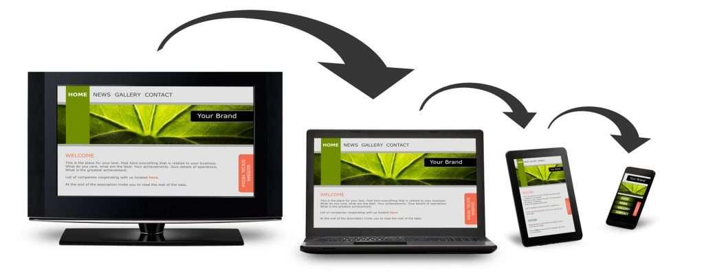 Mobile Responsive Website - Desktop to smartphone
